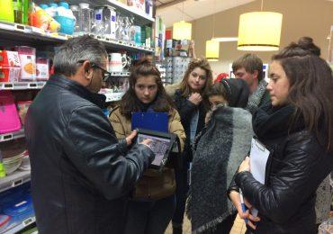 Travaux pratiques de vente en grande surface pour les élèves de CAP SAPVER .
